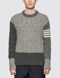 Thom Browne Cable Knit Crewneck Sweater Picture