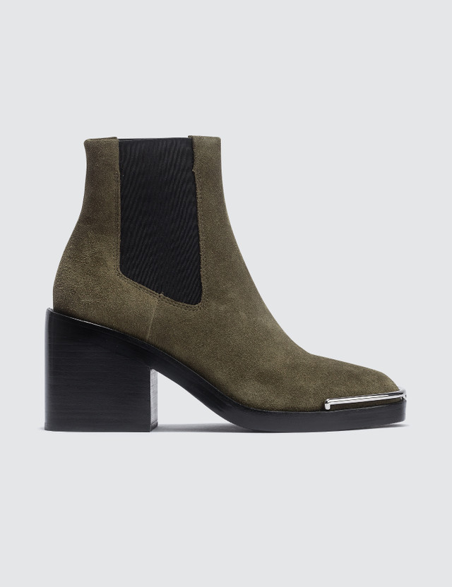 Alexander Wang Hailey Suede Chelsea Boot Sage Women
