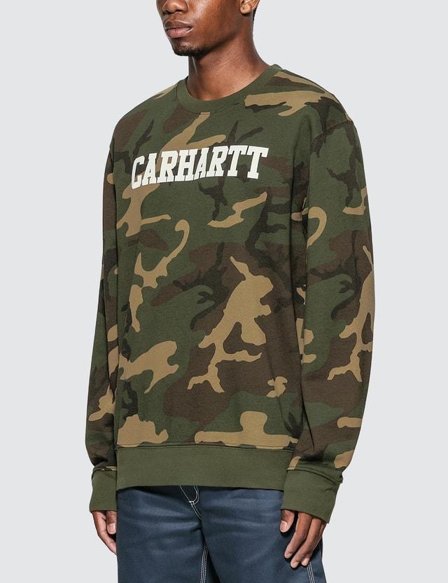 Carhartt Work In Progress College Sweatshirt Camo Laurel / White Men