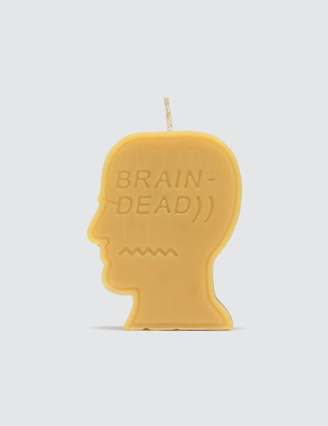 Brain Dead Logo Head Candle