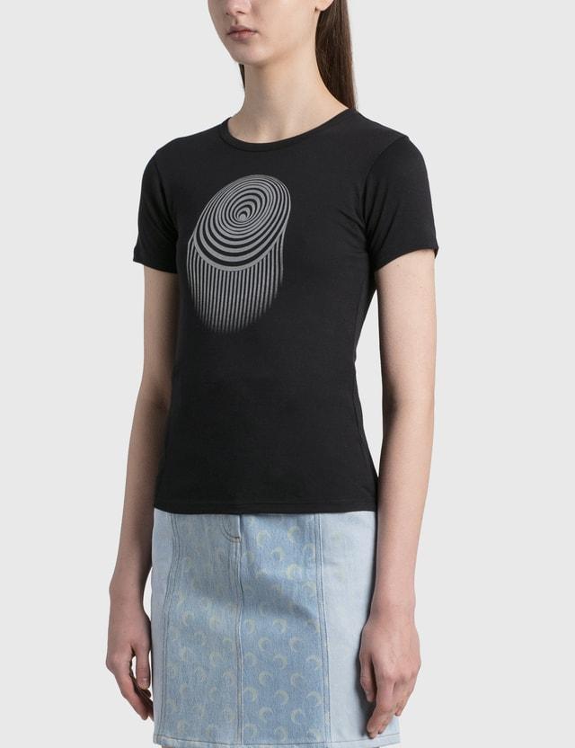 Marine Serre Optic Moon Mini Fit T-shirt 00 Black Women