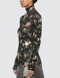 R13 Floral Turtleneck Top Sparse Floral Women