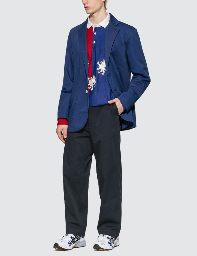 Rowing Blazers Griffin Split Rugby Shirt