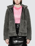 Helmut Lang Shaggy Fur Bomber Jacket Picture