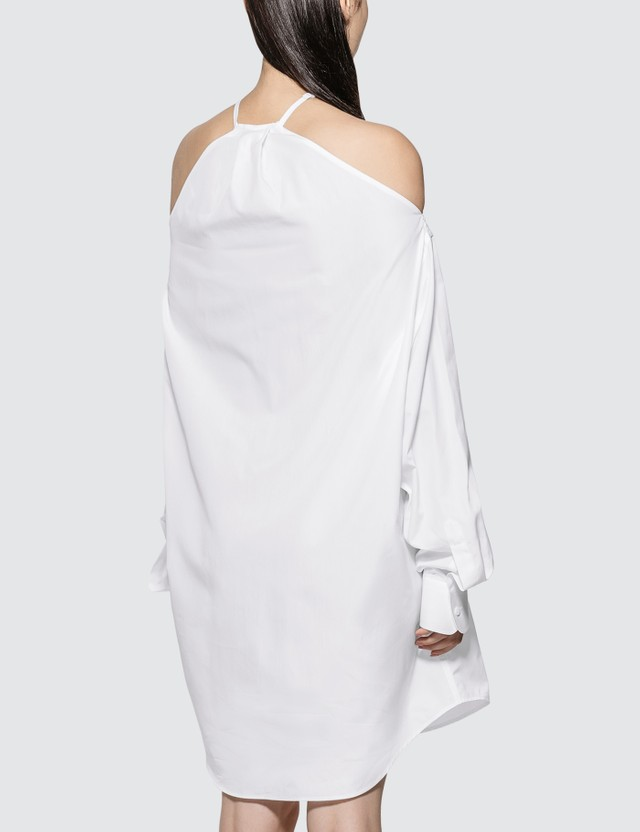 Maison Margiela Cold Shoulder Shirt Dress