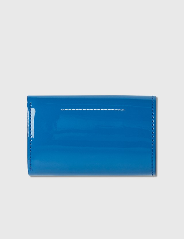 MM6 Maison Margiela Fold Small Wallet Federal Blue Women