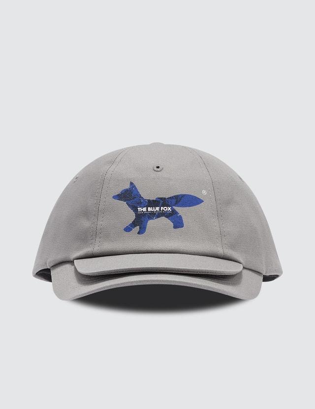 Maison Kitsune Ader Error x Maison Kitsune Double brim Fox Head Cap