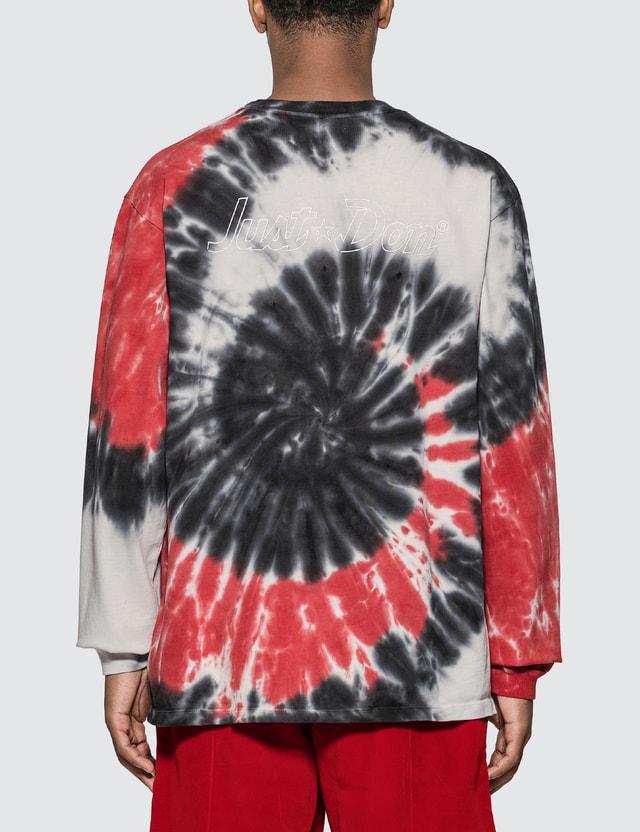 Just Don Dealers Spiral Dye Long Sleeve T-shirt =e34 Men