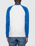 Ami Contrasted Bimaterial Crewneck Sweatshirt