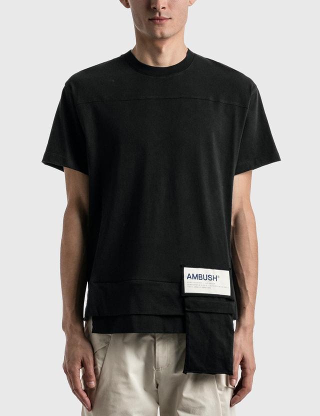 Ambush Waist Pocket Jersey T-shirt Black White Men