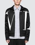 Valentino Black And White Vltn Large Logo Zip Through Jacket Picture