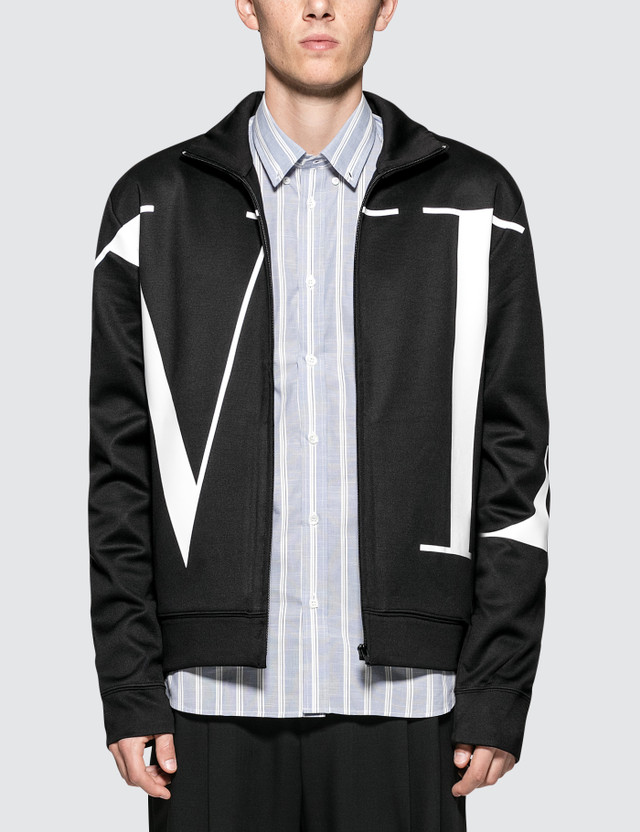 Valentino VLTN Large Logo Zip Through Jacket
