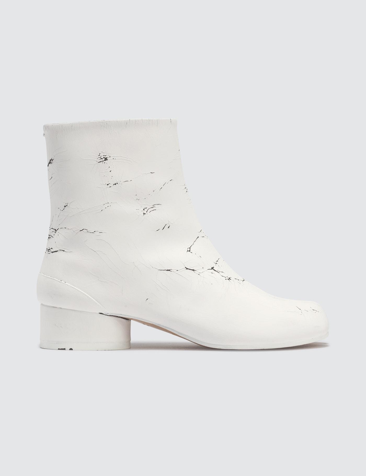 Maison Margiela Tabi Paint Finish Ankle Boots