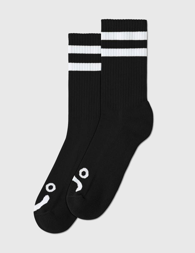 Polar Skate Co. Happy Sad Socks Black  Men