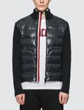 Moncler Stripe Zipped Down Cardigan Picture