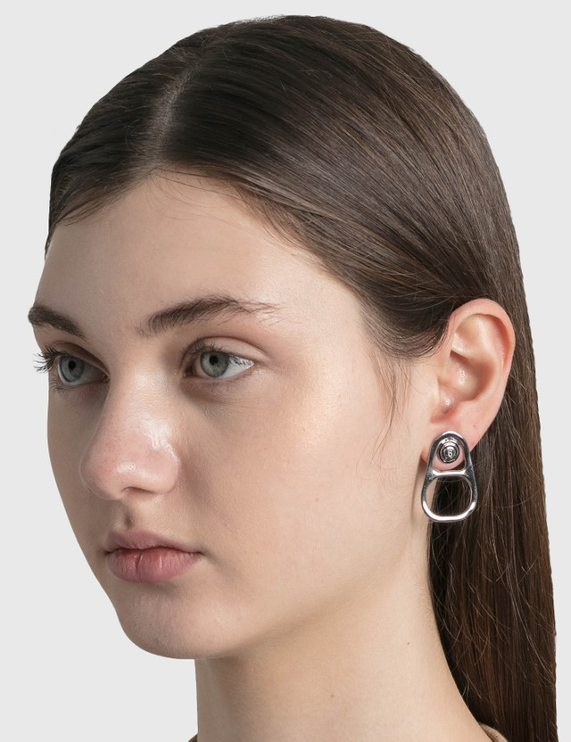 MM6 Maison Margiela Pull Tabs Earrings Palladium Women