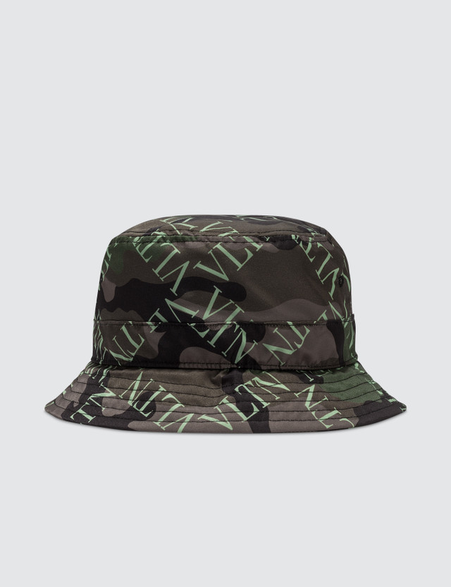Valentino All Over Logo Bucket Hat