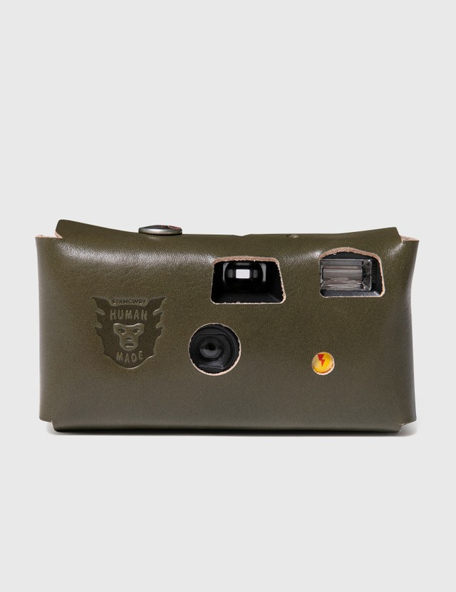 Human Made Leather Camera Case #K Olive Drab Men