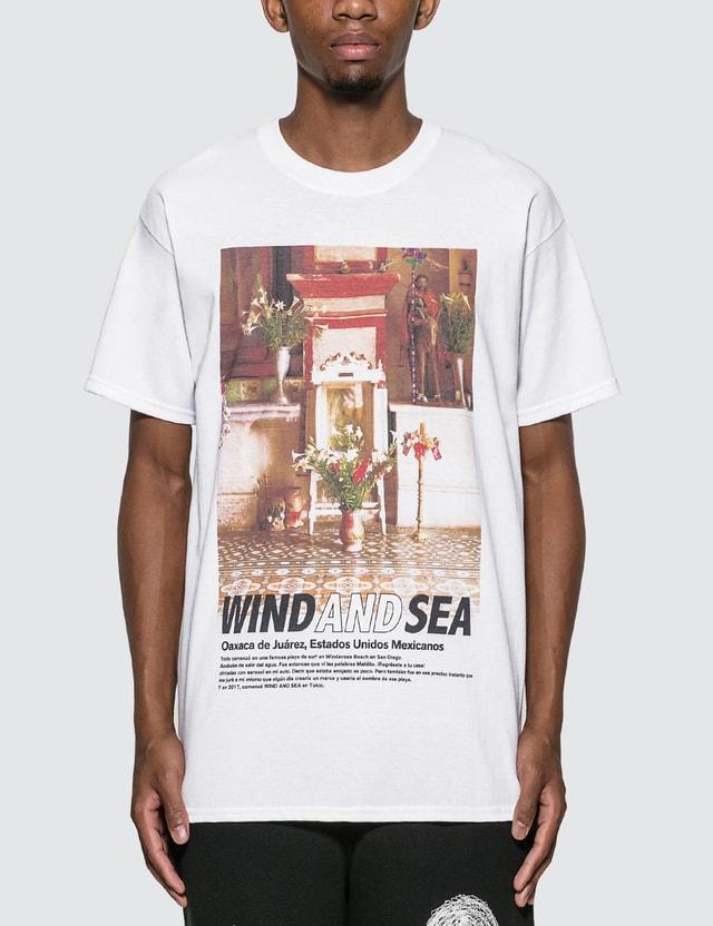 Wind And Sea WDS 산타 크루즈 티셔츠 White Men