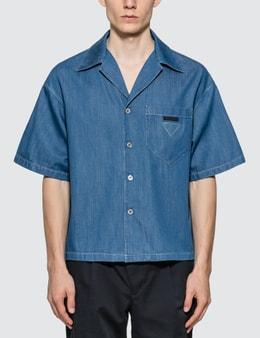 Prada Light Marine Denim Shirt