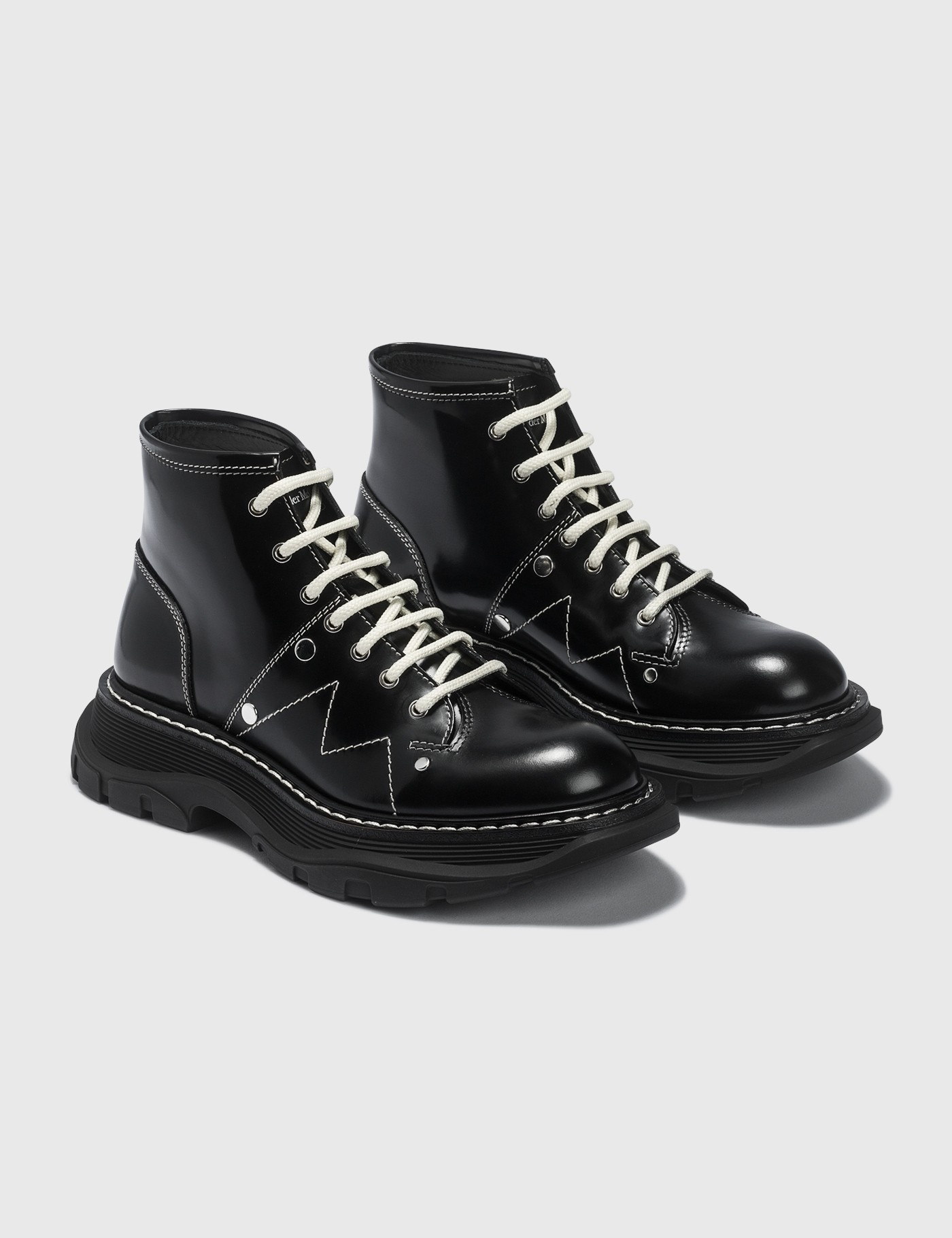 ALEXANDER MCQUEEN TREAD LACE UP BOOTS