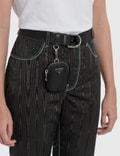 Prada Belt With Nylon Pocket Nero Women