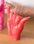 Candle Hand SHAKA Candle Red Unisex