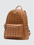 MCM Stark Side Studs Backpack in Visetos