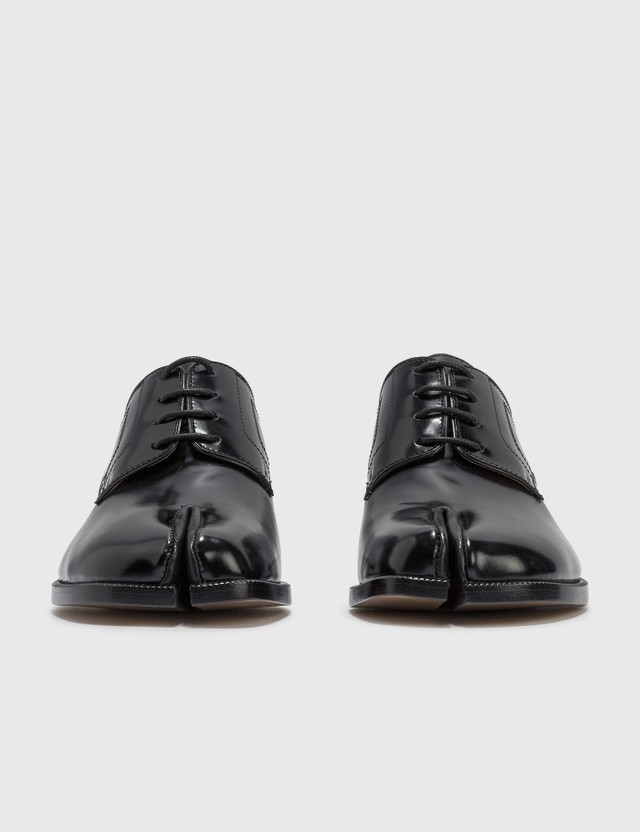 Maison Margiela Tabi Lace Up Shoes Black Women