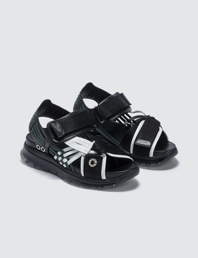 Toga Pulla Black And White Sandals