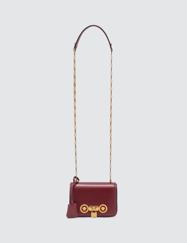 Versace Chain Icon Leather Crossbody Bag