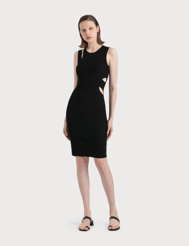 Helmut Lang Slash Overlay Tank Dress 001 - Black Women