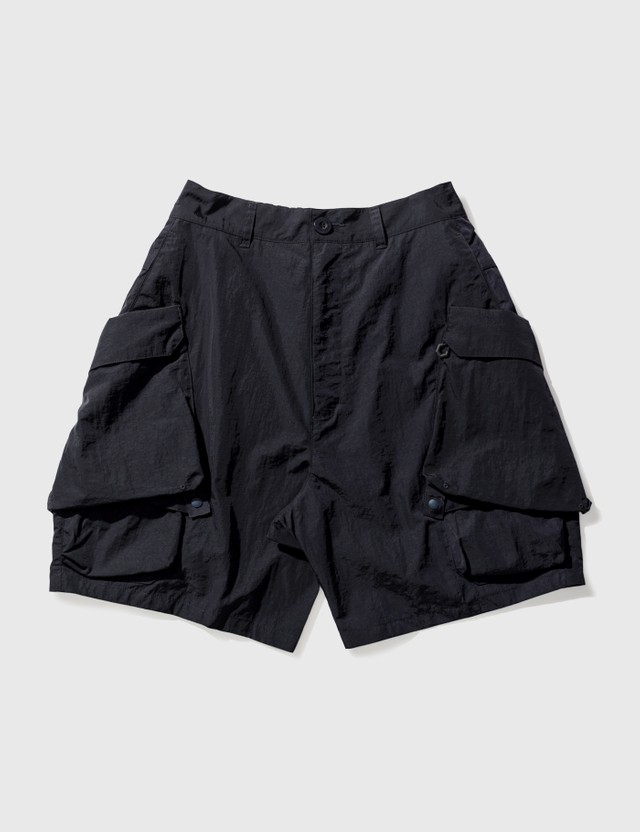 "GOOPiMADE ""MR-01"" 3D-Rotate Utility Shorts Navy Men"