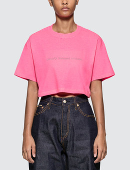 Fuck Art, Make Tees Usually Dressed In Black. Neon Crop Tee