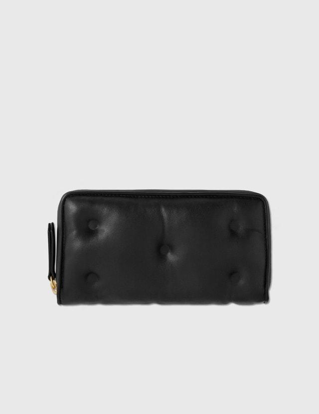 Maison Margiela Large Zip Around Wallet Black Women