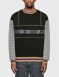 Rassvet Graphic Print Sweatshirt With Check Sleeves Picutre