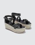 Loewe Gate Wedge Sandals
