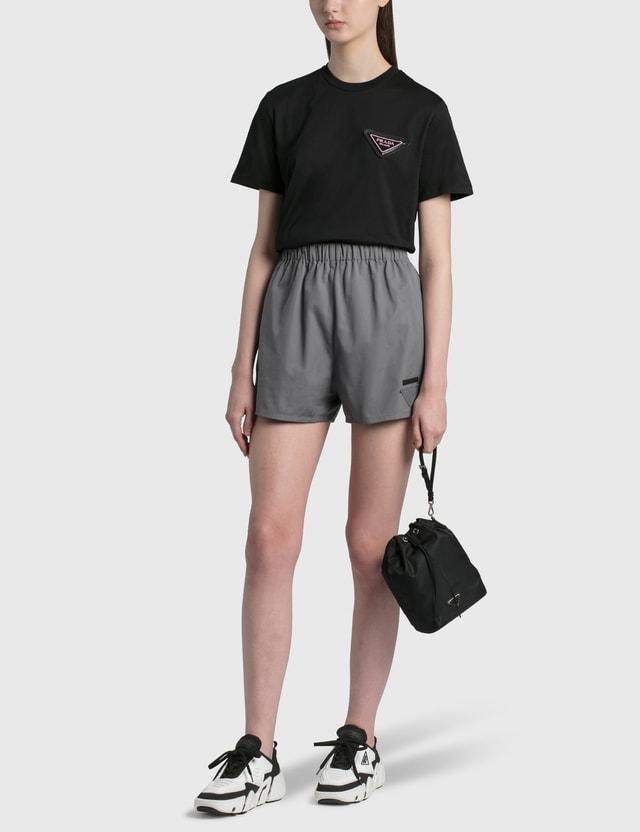 Prada Jersey T-shirt Nero Women