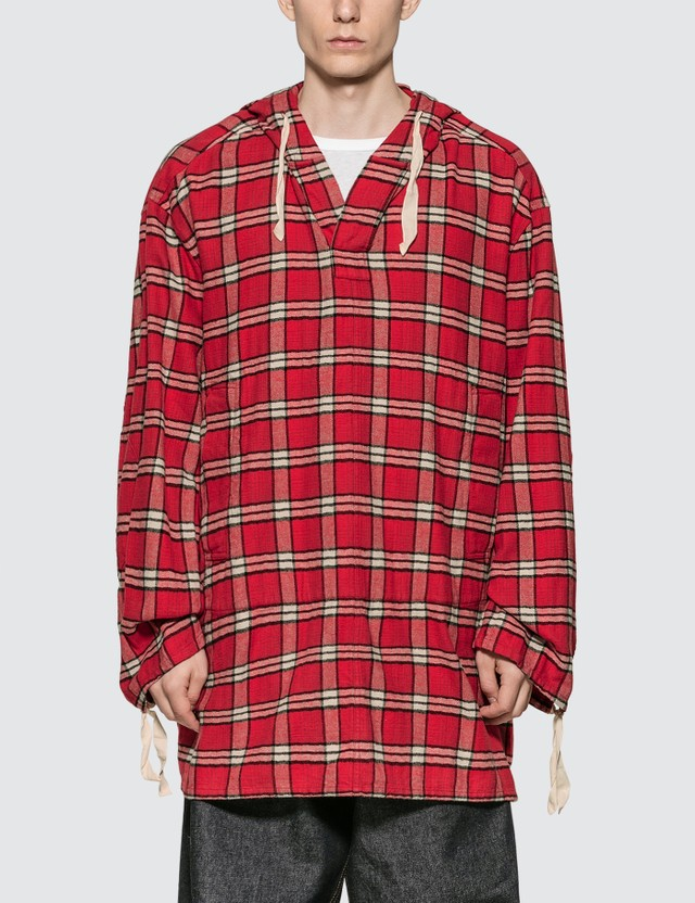 Marni Cotton Flannel Shirt With Hood