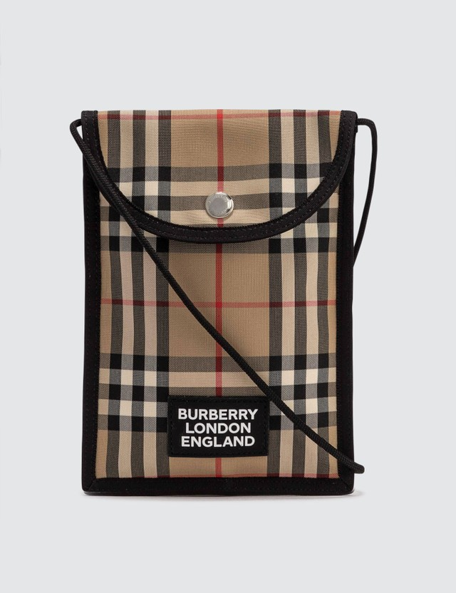 Burberry Logo Appliqué Vintage Check Phone Case Lanyard
