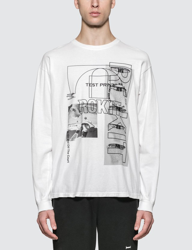 Rokit The Testprint L/S T-Shirt White Men