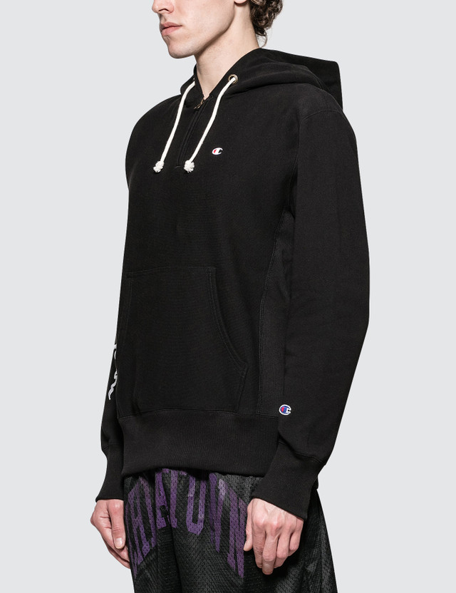 Champion Reverse Weave Script Logo Half Zip Hoodie