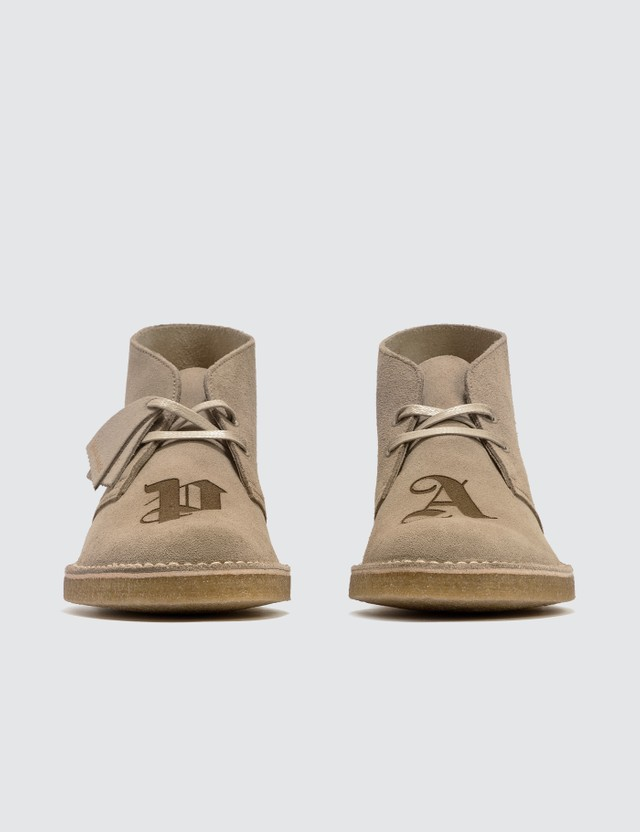 Palm Angels Palm Angels x Clarks Logo Desert Boots