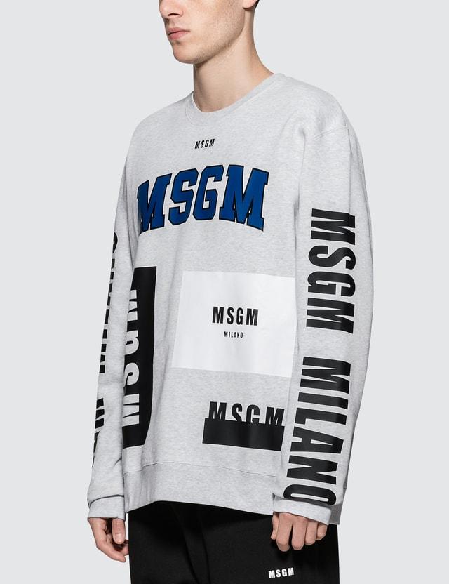 MSGM Multi Logo Sweatshirt
