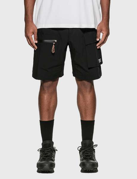 버버리 Burberry Logo Appliquu00e9 Cotton Blend Cargo Shorts