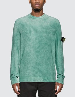 Stone Island Hand Sprayed Treated Rib Knit Sweater