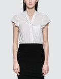 Alexander Wang Washed Cotton Poplin Bodysuit With V-neck Picture