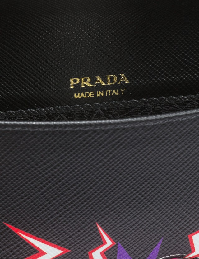 Prada Heart Print Leather Bag