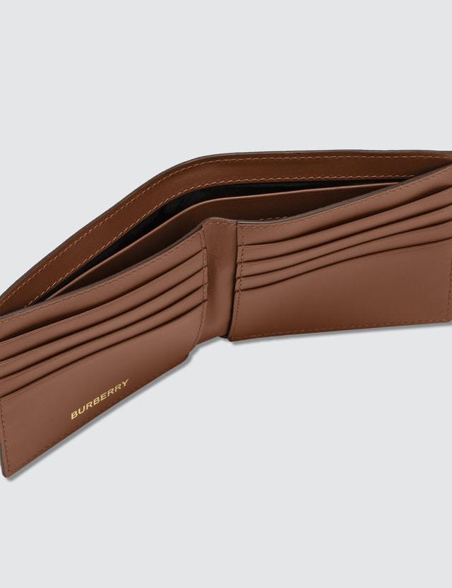 Burberry Monogram Print E-canvas International Bifold Wallet Bridle Brown Ns Men