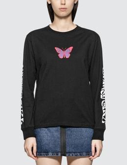 X-Girl Butterfly Long Sleeve T-shirt